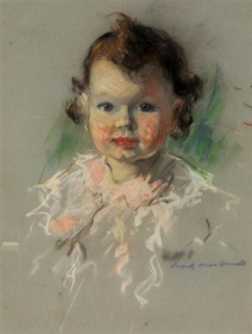 portrait of a young girl by manly edward macdonald