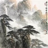 云峰初霁图 by liang shixiong