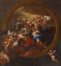 engel mit den arma christi (design for a ceiling painting) by andrea dell' asta