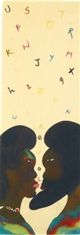love alphabet by chris ofili