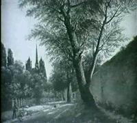 vue des environs de dijon by baptiste gagnereaux