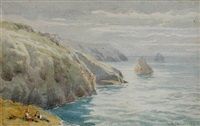 views of cornwall and the sea by samuel phillips jackson