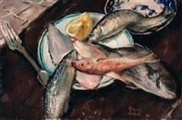 natura morta con pesci by gianni vagnetti