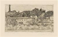 paessaggio (veduta dell'osservanza a bologna) by giorgio morandi