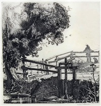 the sluice gate (1924), on japan by graham sutherland