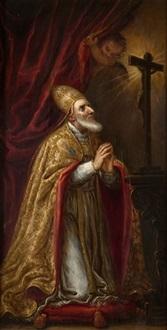 santo obispo by spanish school-madrid (17)