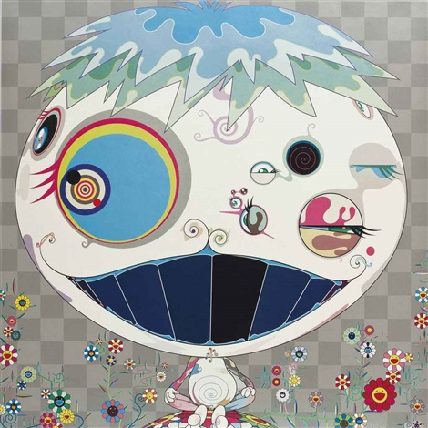 jelly fish and white dob 2 works by takashi murakami