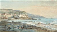 vue méditerranéenne by pierre (henri théodore) tetar van elven