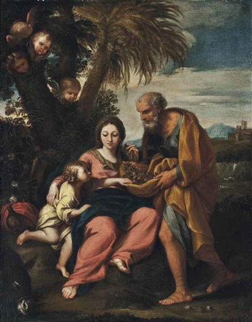 the rest on the flight into egypt by carlo maratta