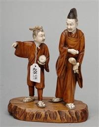 vieux sage et son élève by japanese school-meiji (19)