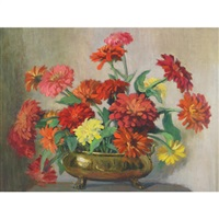 zinnias by beatrice hagarty robertson