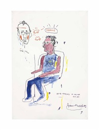 untitled (keith haring) by jean-michel basquiat