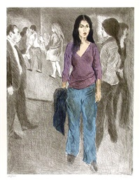 passing by (street scene #3) by raphael soyer