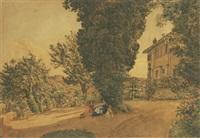 mutter mit kindern im park einer florentiner villa by johann nepomuk rauch