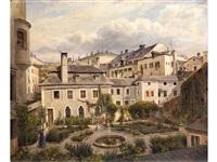 salzburg. aussicht von der küche im städtischen museum by joseph langl