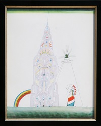 chrysler building (day) by saul steinberg