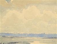 foothills of alberta by alfred crocker leighton