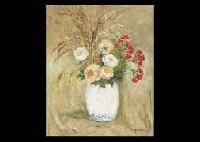 bouquet de fleurs dans un vase by pierre laprade