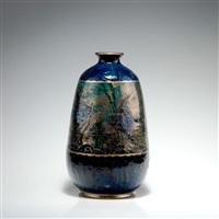 hohe vase mit unterwasserszenerie by auguste claude heiligenstein