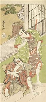 depicting the actors ichikawa yaozo ii and nakamura nakazo i (hosoban) by katsukawa shunsho