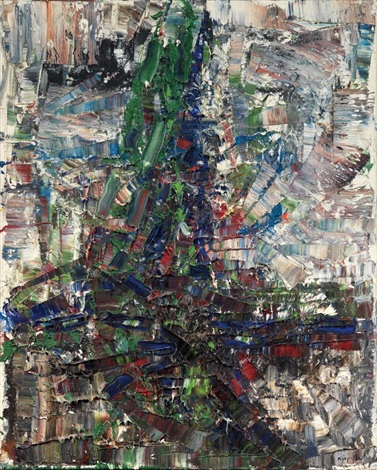la chute du mersier by jean paul riopelle