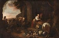 figurer och kreatur vid en brunn by david ryckaert iii