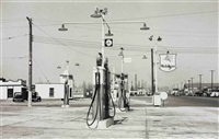 mobilgas, astoria, queens by rudy burckhardt