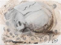 feuille sur un crâne by miquel barceló