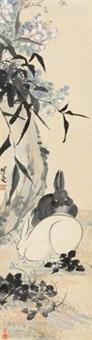 双兔花石 by ren xiong