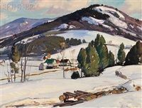 winter landscape by aldro thompson hibbard
