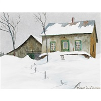 cottage in winter by robert simpson