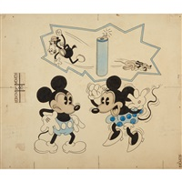 mickey and minnie mouse by disney studios