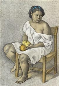 muchacha con limones by francisco zúñiga