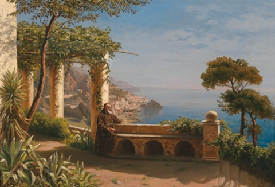 blick in die bucht von amalfi by marie ertl
