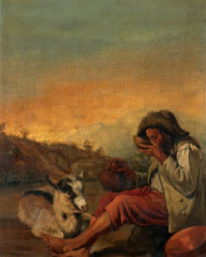 ristoro del pastore by francesco londonio