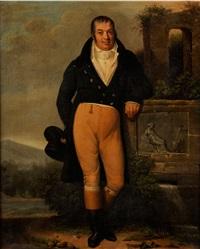 portrait eines herren in südlicher landschaft neben antiken ruinen by anonymous-british (19)