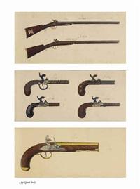 etudes d'armes à feu dont des fusils et des pistolets (album w/works) by belgian school (19)