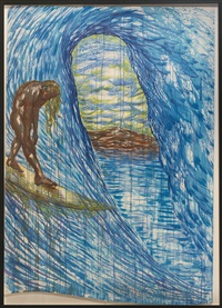 no title (the thing cannot be seen) by raymond pettibon