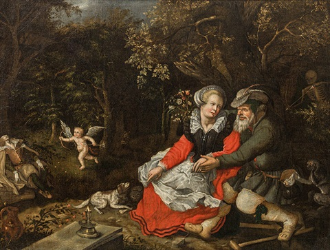 Old Man Young Woman Winged Cupid Allegory Of Love By David Vinckboons On Artnet