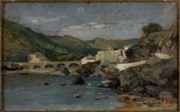 fiume della riviera di levante by antonio varni