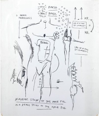 anatomy ii by jean michel basquiat