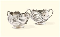 bowls (pair) by rogers silverplate co arts and crafts
