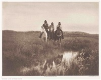 in the land of sioux, ogalala woman, little hawk (3 works) by edward sheriff curtis