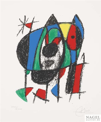 lithograph ii from joan miró der lithograph ii by joan miró