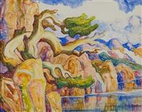 colorado pines by birger sandzen