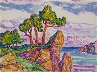 by the seashore, kullen, sweden by birger sandzen
