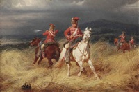 hussars in battle by christian sell the elder