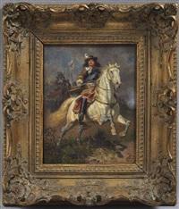 friedrich wilhelm i von brandenburg, der große kurfürst, zu pferd by wilhelm camphausen