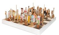 il gioco degli scacchi by enrico baj