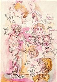 glamorous ladies (study) by stephen tennant